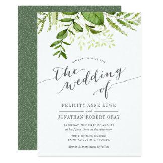 Wilde Wiesen-botanische Hochzeits-Einladung Einladungskarte
