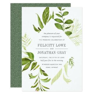 Wilde Wiesen-Hochzeits-Einladung Einladungskarte