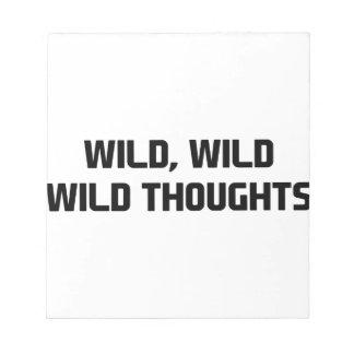 Wilde wilde Gedanken Notizblock