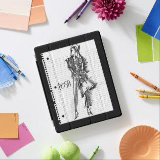 Wilder Apple | Posh - nervöse Vintage Skizze iPad Hülle