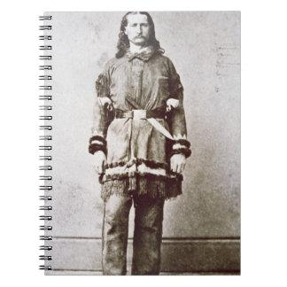 """""""Wilder Bill"""" Hickok (1837-76) (b/w Foto) Spiral Notizbuch"""