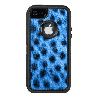 Wilder blauer gepunkteter Cheetah-Pelz-Blick OtterBox iPhone 5/5s/SE Hülle