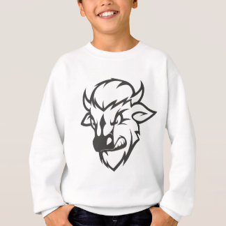 Wilder Büffel-Cartoon Sweatshirt