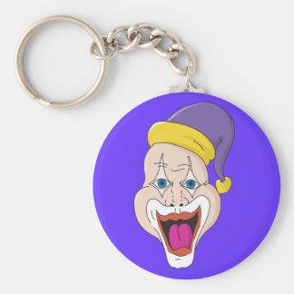 Wilder Clown Standard Runder Schlüsselanhänger