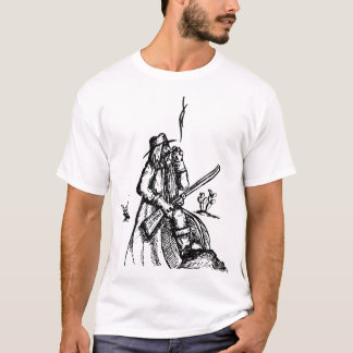 Wilder Cowboy in der Wüste T-Shirt