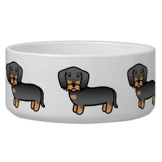 Wilder Eber-Drahthaar-Dackel-Cartoon-Hund Wassernäpfe Für Hunde
