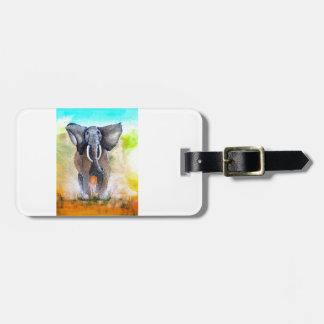 Wilder Elefant-Power Kofferanhänger