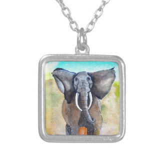 Wilder Elefant-Power Versilberte Kette