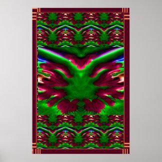 Wilder EXOTISCHER Kaktus.  Grafikdesign Poster