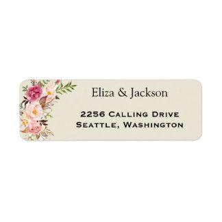 Wilder Garten-Hochzeits-Rücksendeadresse-Aufkleber