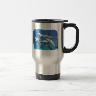 wilder gepunkteter Delphin Edelstahl Thermotasse