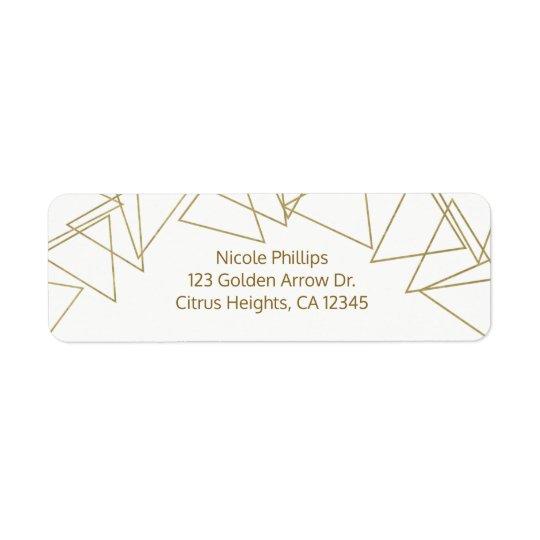 Wilder Goldgeometrische Dreieck-moderner Glamour Rücksende Aufkleber