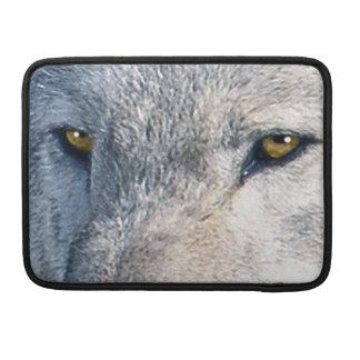 Wilder grauer Wolf mustert Tier-MacBook-Hülse MacBook Pro Sleeve