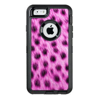 Wilder heißes Rosagepunkteter Cheetah-Pelz-Blick OtterBox iPhone 6/6s Hülle