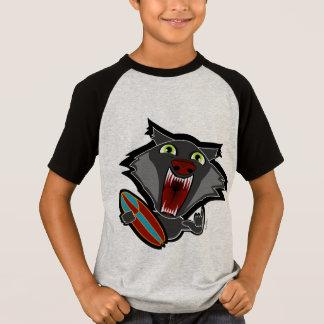 wilder Hundsurfendes JUNGEN-Geschenk-Shirt T-Shirt
