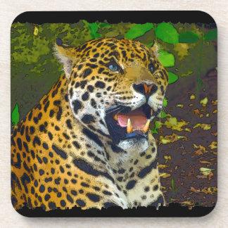 Wilder Jaguar-gepunkteter Panther-Entwurf Untersetzer