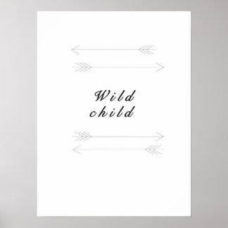 Wilder Kinderdruck Poster