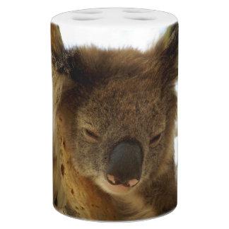 Wilder Koala, der auf Eukalyptusbaum, Foto schläft Seifenspender & Zahnbürstenhalter