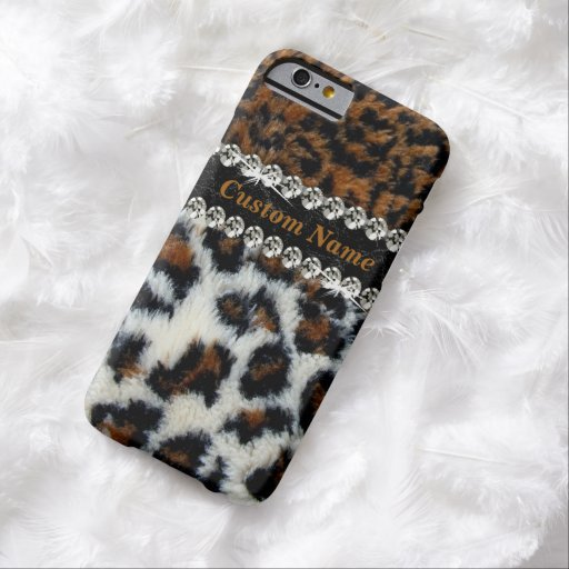 Wilder Leopard-Pelz-Druck iPhone 6 Fall Barely There iPhone 6 Hülle