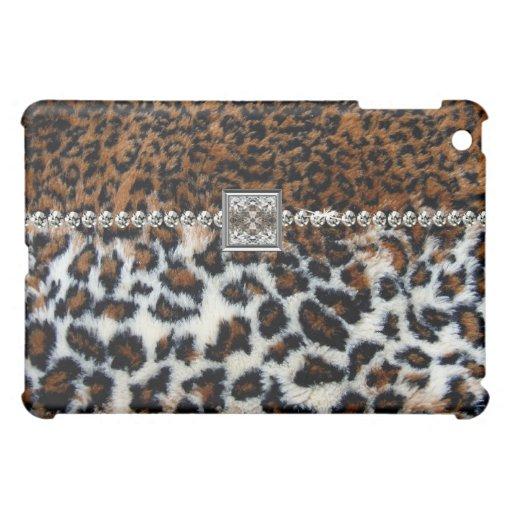 Wilder Leopard-Pelz iPad Fall Hüllen Für iPad Mini