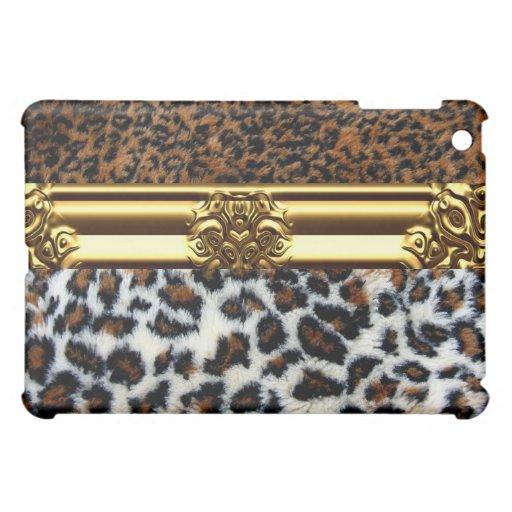Wilder Leopard-Pelz iPad Fall iPad Mini Schale