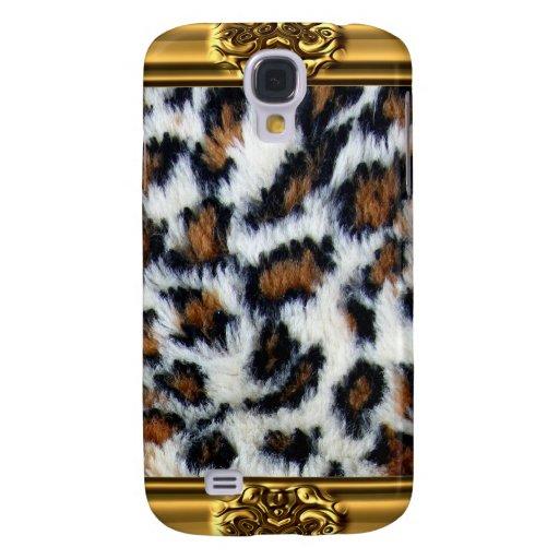 Wilder Leopard-Pelz iPhone 3 Fall Galaxy S4 Hülle