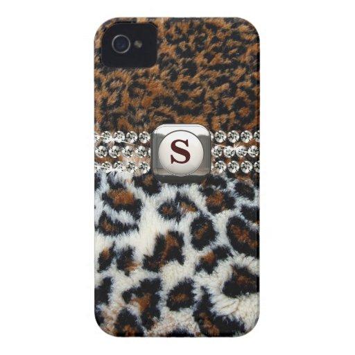 Wilder Leopard-Pelz iPhone 4 Fall Case-Mate iPhone 4 Hülle