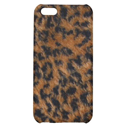 Wilder Leopard-Pelz iPhone 5 Fall iPhone 5C Hüllen