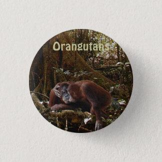 Wilder Orang-Utan u. Dschungel-Primat-Kunst-Knopf Runder Button 3,2 Cm