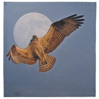 Wilder Osprey u. Supermond-Foto-Entwurf Stoffserviette