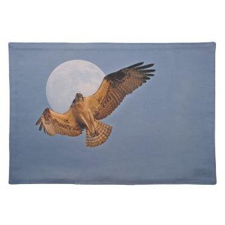 Wilder Osprey u. Supermond-Foto-Entwurf Tischset
