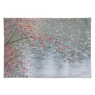 Wilder Rosen-Baum, der einen Teich | Seabeck, WA Tischset