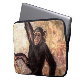 Wilder Schimpanse afrikanischen den wild lebenden Laptopschutzhülle