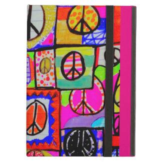 Wilder und bunter Friedenszeichen-Kunst iPad