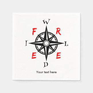 Wilder und freier Reisend-Kompass Serviette