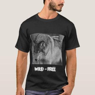 Wilder und freier Wolf-T - Shirt für Männer