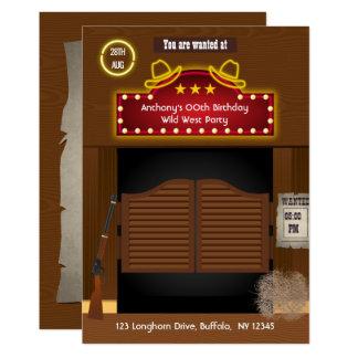 Wilder Westcowboy-Themed Party addieren Karte