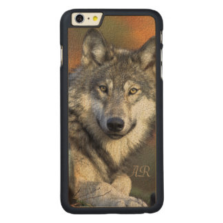 Wilder Wolf Carved® Maple iPhone 6 Plus Hülle