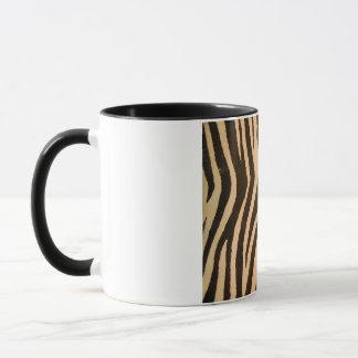 Wilder Zebra-Druck-Pfirsich Tasse