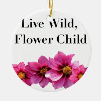 Wildes Blumen-lebhaftkind Keramik Ornament