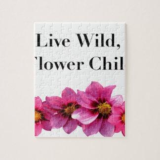 Wildes Blumen-lebhaftkind Puzzle
