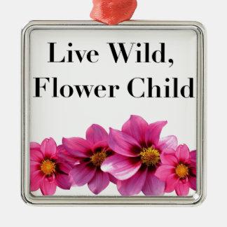 Wildes Blumen-lebhaftkind Silbernes Ornament