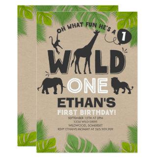 Wildes Einladungs-Jungen-wildes Geburtstags-Party Karte