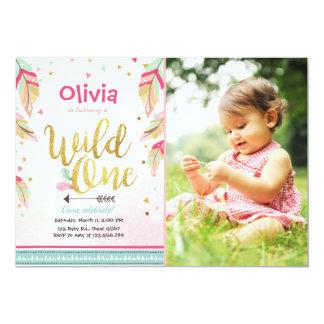 Wildes erstes Mädchen Geburtstag der Karte