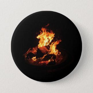 Wildes Feuer Runder Button 7,6 Cm