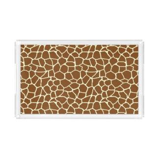 Wildes Giraffen-Muster-Tierdruck Acryl Tablett