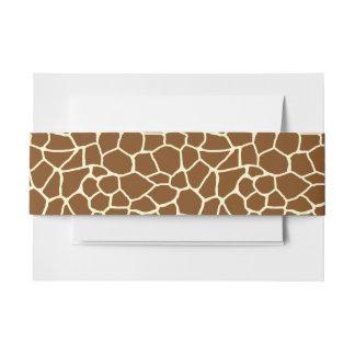 Wildes Giraffen-Muster-Tierdruck Einladungsbanderole