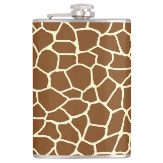 Wildes Giraffen-Muster-Tierdruck Flachmann