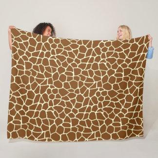 Wildes Giraffen-Muster-Tierdruck Fleecedecke
