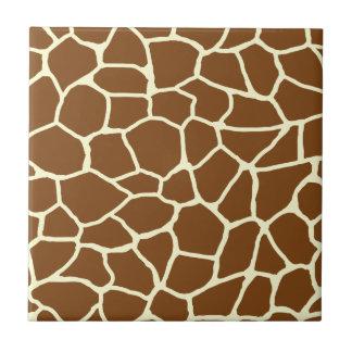 Wildes Giraffen-Muster-Tierdruck Fliese